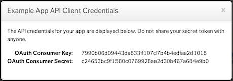 Consumer Credentials